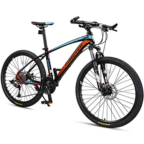 BCX Mountain bike a 33 velocità, freno a disco con telaio in alluminio da uomo Mountain bike hardtail, mountain bike da donna, mountain bike per tutti i terreni, grigio, 26 pollici,Blu,26 pollici