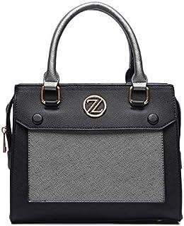 Zeneve London Victoria Satchel Bag For Women - Black