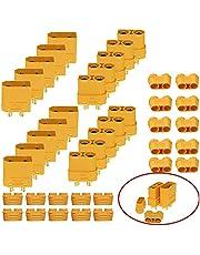 HUAZIZ 10 Pares XT90 Conectores Macho Hembra XT90 enchufes Adaptador (10 Conectores Macho +10 Conectores Hembra ),XT90 Conectores Macho Hembra Enchufes con Sheath, Macho Hembra Bullet Conector