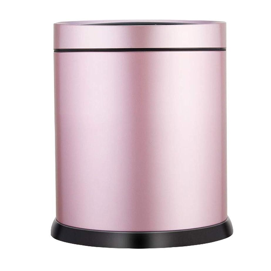 金額周囲長椅子インテリジェントセンサーゴミ缶、家庭用自動ステンレス6L(バッテリーを除く) (Color : C)