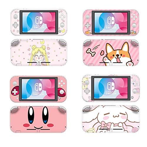 BLOUR Lindo Gato Perro Sailor Moon Protector de Piel de Pantalla Protectora Pegatina para Nintendo Switch Lite NS Mini Consola decoración calcomanía Funda
