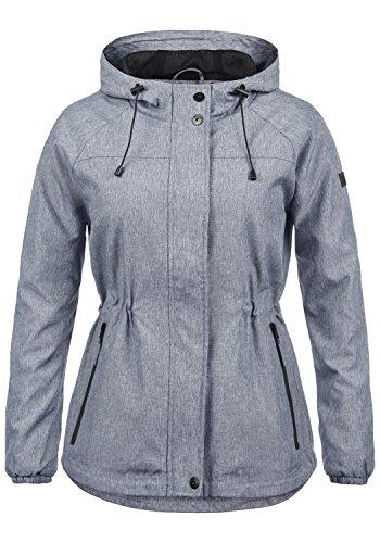 BlendShe Oda Damen Windbreaker Übergangsjacke Regenjacke Mit Kapuze Und Melierung, Größe:M, Farbe:Navy (70230)