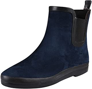 VICVIK Women's Ankle Rain Boots Fashion Elastic Chelsea Booties Anti Slip Waterproof Slip On Short Rain Booties