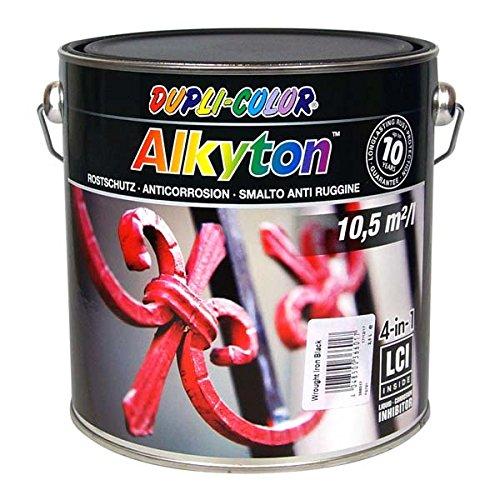 Dupli-Color 366017 DC-Alkyton Streichlack, 2500 ml, Eisen Glanz Schwarz/Anthrazit