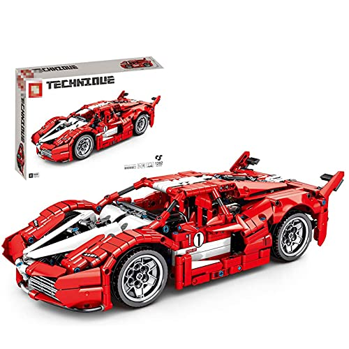 Technic Building Blocks Car, 1282 Piezas Technic Sports Car Model Building Set Car Building Set Modelo Compatible con Lego Technic
