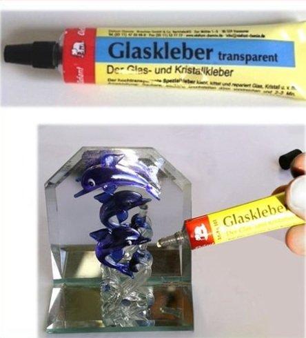 Glaskleber transparent Kristallkleber Klebstoff Tube Original von Elefant® 14g