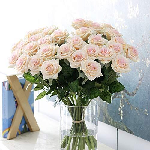 MEITAO Kunstbloemen, 11 stuks, kunstbloemen uit het huis van de pioenrozen, van hoge kwaliteit op de bruid Champagne