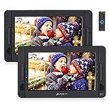 PUMPKIN Lecteur DVD Portable Voiture Double Ecran d'appuie-tête pour Enfant 10,1 Pouce supporte USB SD MMC Autonomie de 5 Heures...