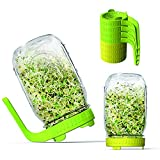 DMCFPL Sprouting Lids,8 Pack Plastic Sprouting Kit with Handle,Sprouting Jar Lids for Wide Mouth Mason Jars,for Growing Bean Sprouts, Alfalfa, Salad , Broccoli