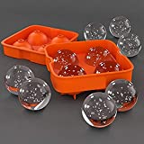 Infinity Tradelink Ice Trays for Freezer Whiskey Ice Cube Silicone Ball Maker Mold