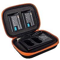 DSTE ENEL15 バッテリーとデュアル充電器とポータブル保護バッグ (バッテリー 2個 + デュアル バッテリー 充電器 1個) に対応 Nikon MH-25a 1 V1 Z7 Z6 D600 D610 D750 D850 MB-D18 MB-D17 MB-D16 アクセサリ