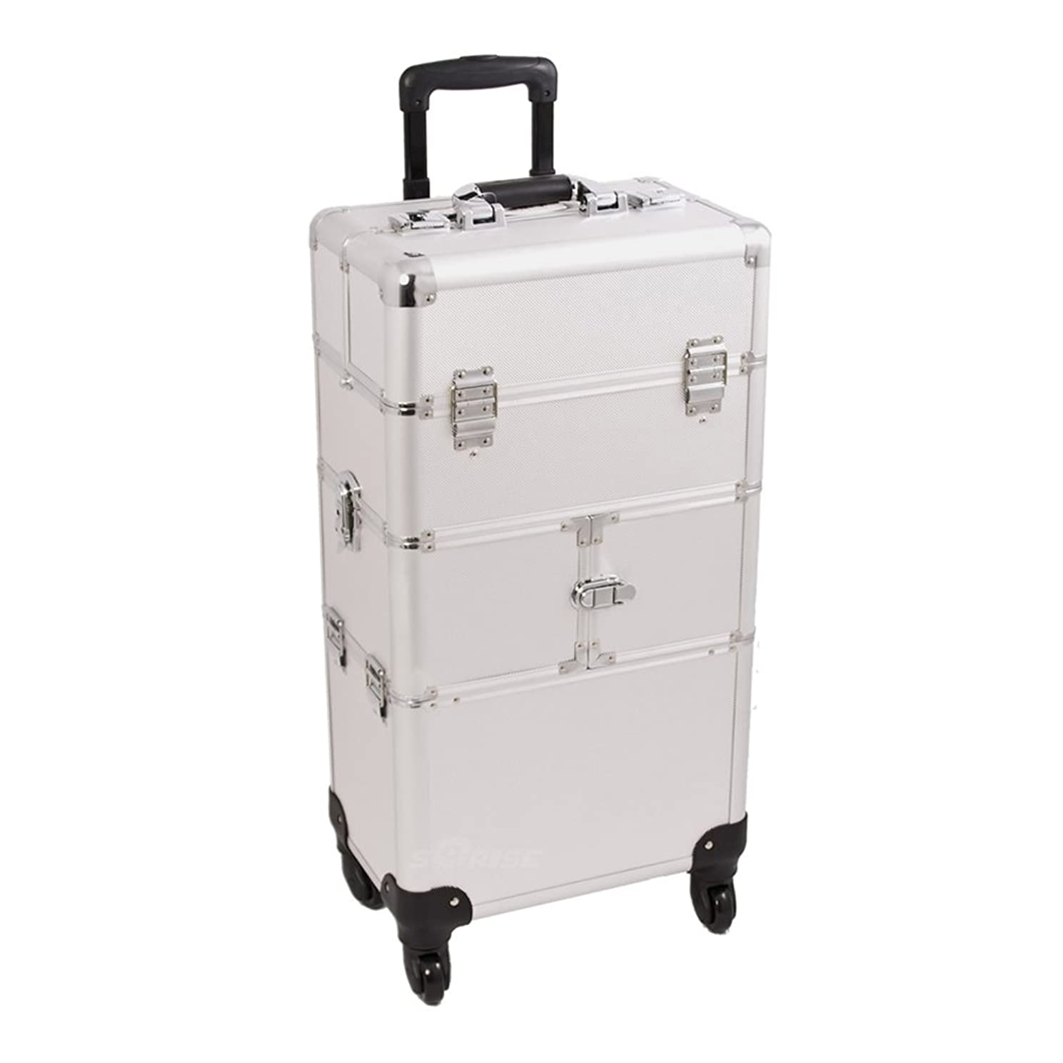 Craft Accents I3264 Dot Trolley Craft/Quilting Storage Case, Silver