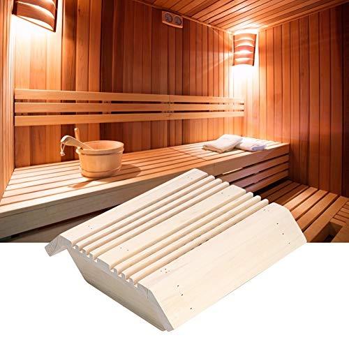 NEUFDAY Neufdayyy Sauna Lampenschirm, Saunaraum Square Wood Corner Lampenschirm Light Cover Sauna Zubehör