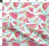 Wassermelone, Wassermelonen Stoffe - Individuell Bedruckt