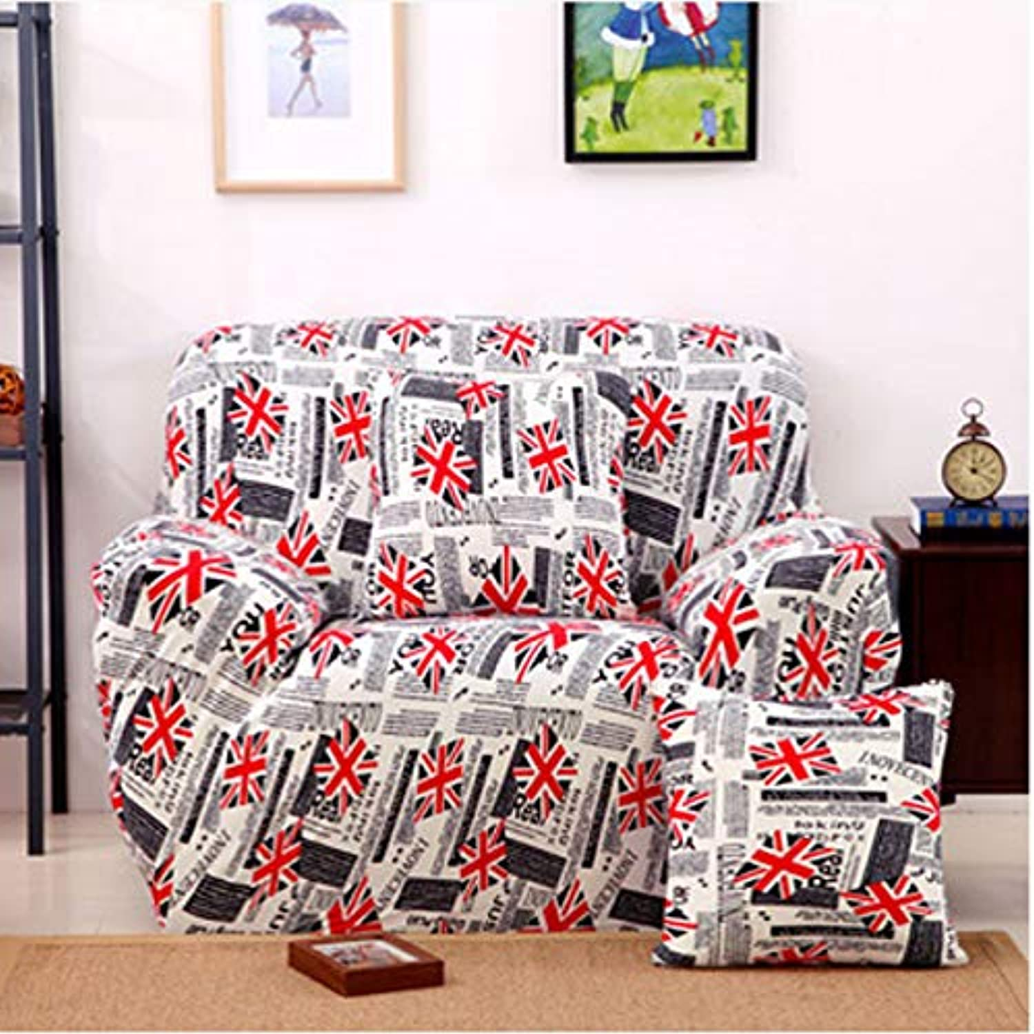Vivona One Seater Textile Spandex Strench Flexible Printed Vivona astic Sofa Couch Cover Furniture Predector - (color   07)