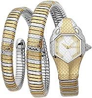 Just Cavalli Signature Snake Serpente Doppio Stainless Steel Watch JC1L168M0075 - Quartz Analog for Women in Stainless...