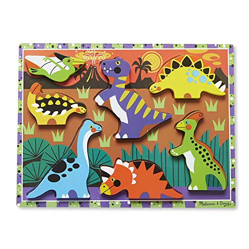 dinosaur toys for toddlers melissa and doug dinosaur chunky puzzle