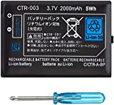 HDCKU Battery Replacement Compatible for Nin 3DS CTR-003 with Tool Kit Pack(Not compatiable with 3DS XL SPR-003)
