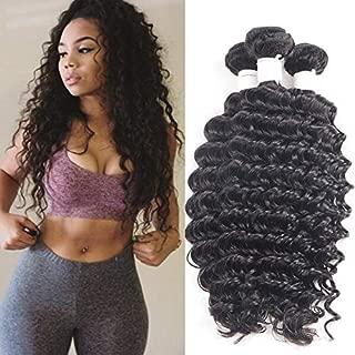 Malaysian Virgin Hair Deep Wave 3 Bundles 14