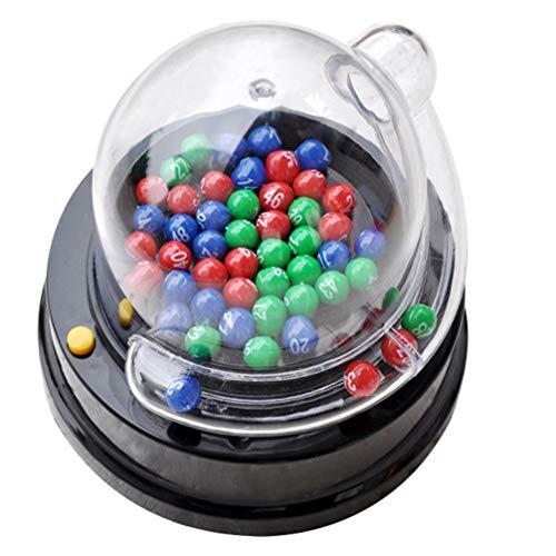 NUOBESTY - Juego eléctrico para máquina de recogida de números de la suerte, mini lotería, juegos de bingo, sacudir, familia, juego de actividad, para niños y adultos
