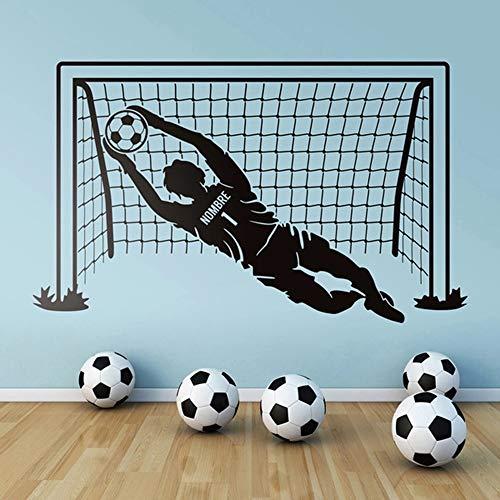 HGFDHG Pegatina de Pared de fútbol, Jugador de fútbol, Deportes, fútbol, Nombre Personalizado, Vinilo, Mural, decoración del hogar
