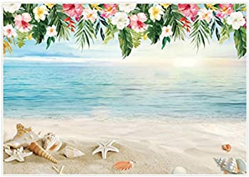 Allenjoy 7x5ft Luau Beach Backdrop Tropical Summer Hawaiian Theme Birthday Party Banner Aloha Photography Background Baby Shower Photoshoot Photo Booth Props