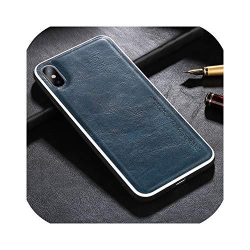 Just Relax Shop - Funda de piel para iPhone 11 Pro X XR XS Max 7 8 Plus (plástico), color liso
