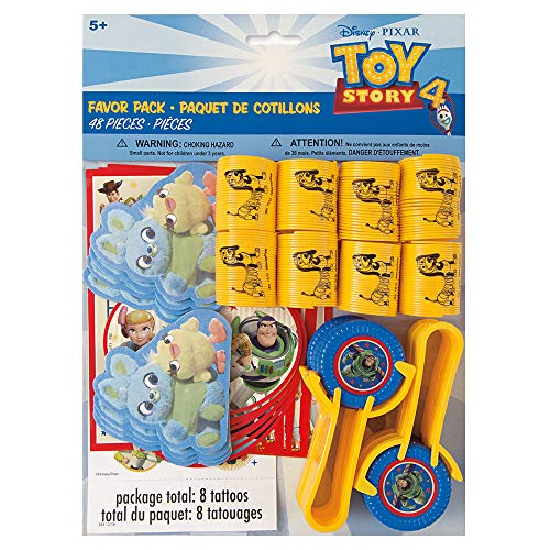 Unique Industries Disney Toy Story 4 Movie Favor Pack - 48ct