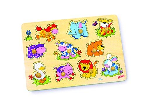 Goki- Puzzles de maderaPuzzles de maderaGOKIPuzzle cachorritos II, Multicolor (Gollnest & Kiesel 57838.0)