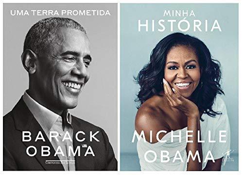Kit Livros Familia Obama - Minha História + Uma Terra Prometida
