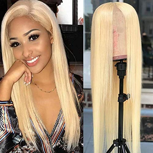 Lovestory 613 Color Long Straight Wigs For Women Heat Resistant Blonde Synthetic Lace Front Wig 180 Density 22 inch