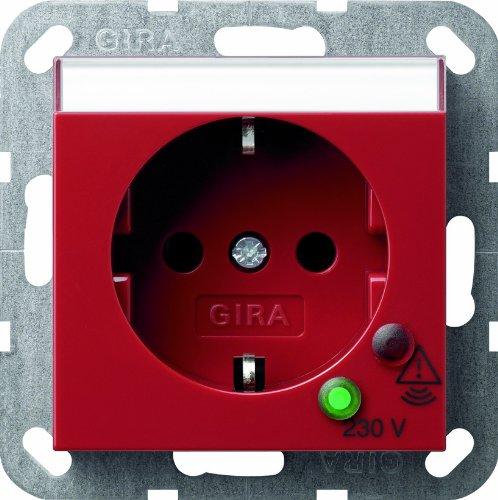Gira 045102 Schuko Steckdose Überspannungsschutz System 55, rot