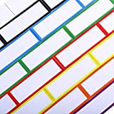 48 Pieces Magnetic Dry Erase Labels Reusable Writable Erasable Magnetic Strips for Home Office Classroom, Whiteboard, Lockers, Fridge, Name Plate Labels, 8 Colors (1 x 3 Inch)