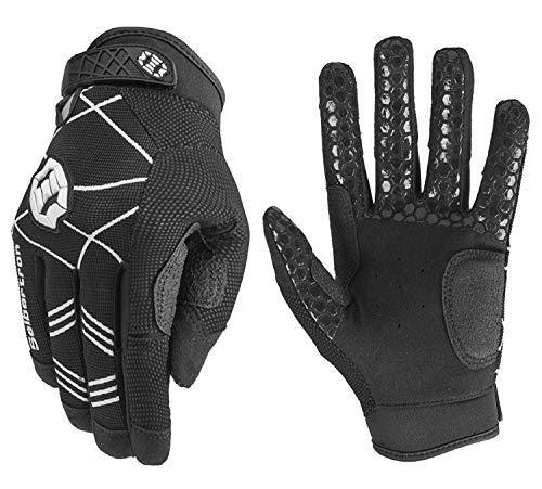 Seibertron B-A-R PRO 2.0 Signature Baseball/Softball Schlagmann Batting Handschuhe Gloves Super Grip Finger Fit for Erwachsener schwarz L