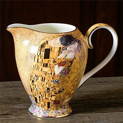 MSNLY Romántico Juego de té de la Tarde nórdica Hueso China Taza de café platillo Moderno hogar cerámica Europea pequeño Juego de café Traje Taza de café Set Taza