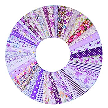 100 PCS Cotton Craft Fabric Bundle Squares Patchwork Lint Different Designs 4 X 4 inches  10cm x 10cm  for DIY Sewing Quilting Scrapbooking Pieces 4×4in Assorted Printed