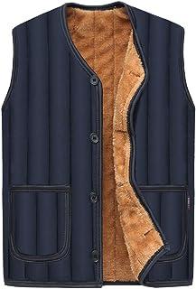 ZiXing Men's Winter Fleece Gilet Quilted Warm Sleeveless Jacket Body Warmer