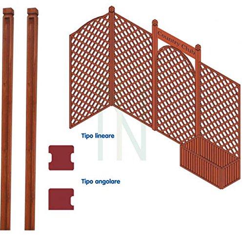 Hoekpalen van hout voor grillplaten 180 cm tuinhek