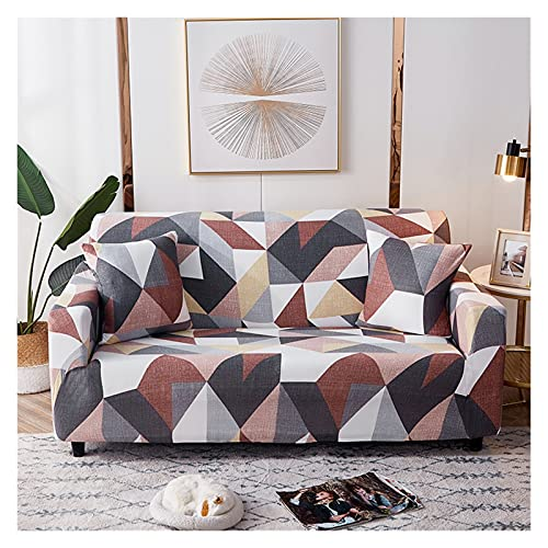 QYSM Sala de Estar Moderna combinación Esquina sofá Cubierta de sofá Impresa Cubierta de sofá elástico Cubierta Sillón Sofá Cubierta 1/2/3/4 Asiento Poliéster (Color : 7, Size : 4 Seater 235-300cm)