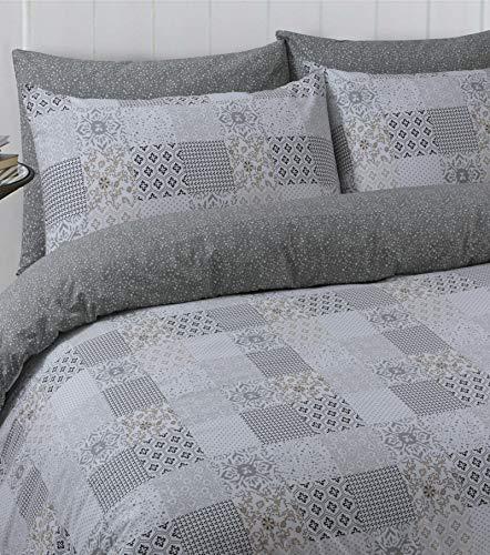 Divine Textiles 100% Pure Cotton Printed Reversible Duvet Quilt Cover Set, Double - Marrocoas