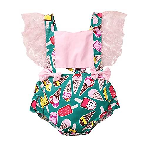 Conjunto de mameluco para recién nacidos y mameluco con estampado floral para bebés súper adorables trajes de verano para bebés