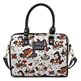 Loungefly Beauty and the Beast Belle and Characters All Over Print Tattoo Art Handbag Purse