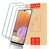 (3-Packs) PULEN for Samsung Galaxy A32 4G Screen Protector,HD Clear Scratch Resistant Bubble Free Anti-Fingerprints 9H Hardness Tempered Glass (Not for Samsung A32 5G)