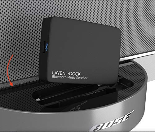 LAYEN i-DOCK Adaptador Bluetooth de 30 pines Receptor de música estéreo inalámbrico con aptX y varios pares (no apto para automóviles)