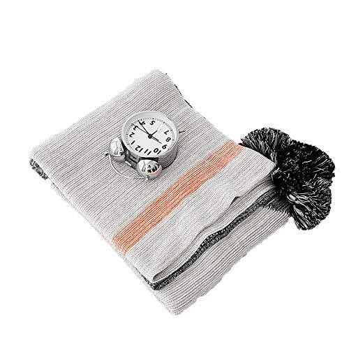 Dfghbn Canapé Fauteuil Couverture Coton Lancers Sofa Canapé lit décoratif Tricoté Blanket Bed Room Living pour Le lit Canapé Soft Chair (Couleur : A, Size : 130x160cm)
