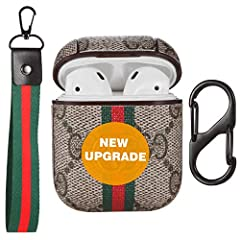PERFECT COMPATIBILITY - 100% compatible with Airpods 1 & 2, precisely fit your airpods charging case(NXNEE airpods case is designed as an integrated structure, the charging case will slide slightly when the lid is opened, but it will not fall off), i...