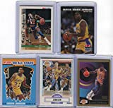 Magic Johnson Los Angeles Lakers Assorted Basketball Cards 5 Card Lot