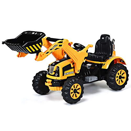 Costzon 12V Battery Powered Kids Ride On Excavator, Electric Truck...