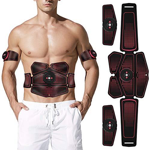 EMS Entrenador abdominal EMS Estimulación muscular del dispositivo de entrenamiento estimulador muscular profesional del entrenador abdominal ABS estimulador muscular USB portátil para mujer hombre