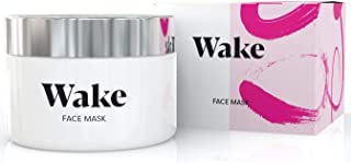 Wake Skincare Pink Clay Face Mask & Scrub - Facial Skin Care Products to Reduce Pores & Remove Blackheads, Detox Anti Acne Treatment